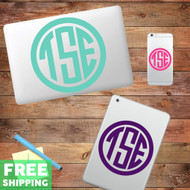 Custom Circle Monogram Device Decals Wall Stickers