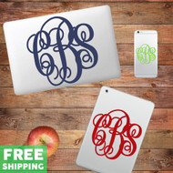 Custom Fancy Monogram Device Decals Wall Stickers