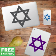 Star Of David - Device Decal Wall Stickers
