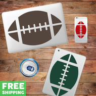 Football Device Decals Wall Stickers