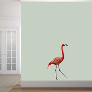 "Real Life Flamingo Printed Wall Decal 21"" wide x 36"" tall Sample Image"