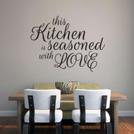 """This Kitchen Is Seasoned With Love Wall Decals 36"""" wide x 27"""" tall Sample Image"""