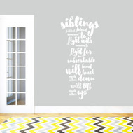 "Siblings Wall Decal 28"" wide x 60"" tall Sample Image"