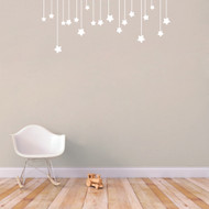 "Hanging Stars Wall Decals 48"" wide x 20"" tall Sample Image"