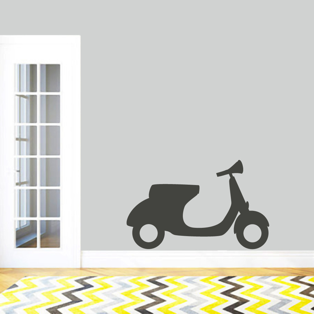 Motor scooter wall decal wall stickers amipublicfo Gallery