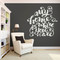 """My Home Is Where You Are Wall Decal 48"""" wide x 48"""" tall Sample Image"""