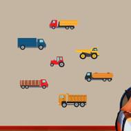 Work Trucks Printed Wall Decals Medium Sample Image