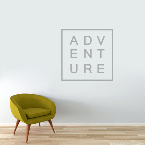 """Adventure Wall Decal 36"""" wide x 36"""" tall Sample Image"""