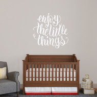 "Enjoy The Little Things Wall Decal 36"" wide x 36"" tall Sample Image"