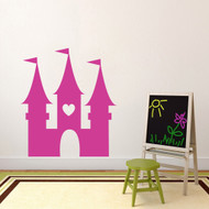 "Princess Castle Wall Decal 43"" wide x 48"" tall Sample Image"