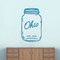 "Ohio Mason Jar Wall Decal 22"" wide x 36"" tall Sample Image"