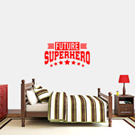"Future Superhero Wall Decal 36"" wide x 20""tall Sample Image"