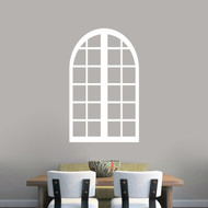 "Tall Arched Window Frame Wall Decals 22"" wide x 36"" tall"