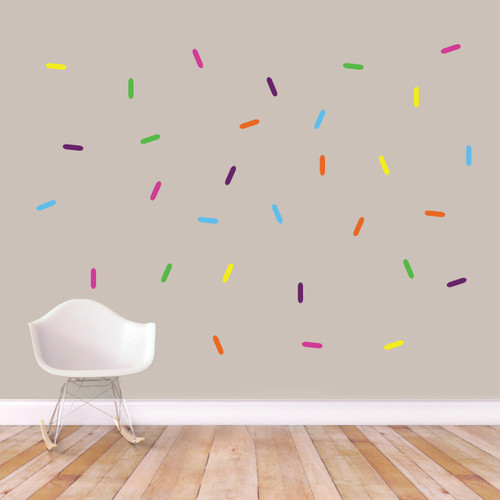 Sprinkles Printed Wall Decals Vibrant Sample Image