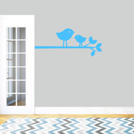 "Birdies On Branch Wall Decal 36"" wide x 15"" tall Sample Image"