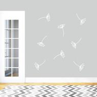 Dandelion Seeds Wall Decals Medium Sample Image