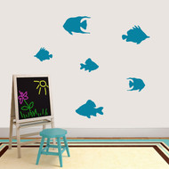 Set Of Fish Wall Decals Medium Sample Image