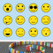 Emoji Smiley Faces Printed Wall Decals Large Sample Image