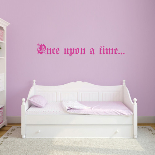 """Once Upon A Time Wall Decal 48"""" wide x 7"""" tall Sample Image"""
