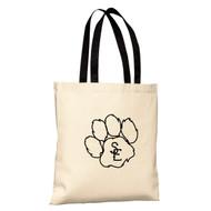 Natural / Black Seneca East Paw Print Basic Tote Bag