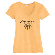 Maize Homegrown Ohio Arrow Women's Fitted V-Neck T-Shirt