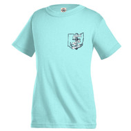 Celadon Anchored In Ohio Toddler & Youth T-Shirt Front