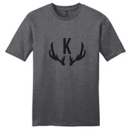 Heathered Charcoal Antlers Monogram T-Shirt