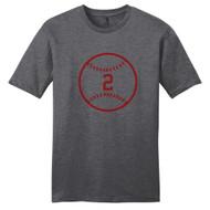 Heathered Charcoal Custom Baseball T-Shirt