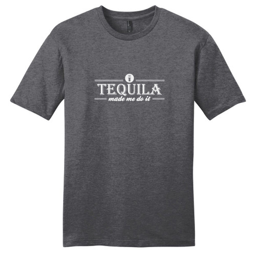 Heathered Charcoal Tequila Made Me Do It T-Shirt