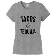 Gray Frost Tacos & Tequila Women's Fitted T-Shirt