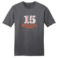 Heathered Charcoal Custom Baseball Mom T-Shirt