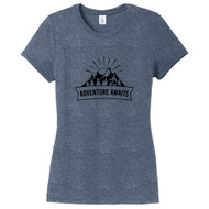 Navy Frost Adventure Awaits Women's Fitted T-Shirt