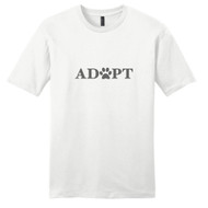 White Adopt With Paw Print T-Shirt
