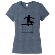 Navy Frost Hurdler Women's Fitted T-Shirt