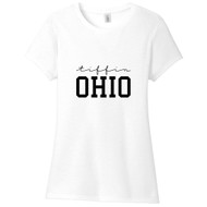 White Tiffin Ohio Women's Fitted T-Shirt