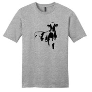 Light Heathered Gray Cow Silhouette T-Shirt