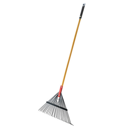 "26"" Lawn & Leaf Rake with Spring-Steel Tines"