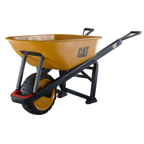 Heavy-Duty, 6 cu ft Steel Wheelbarrow