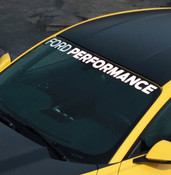 "2015-2016 MUSTANG ""FORD PERFORMANCE"" WINDSHIELD BANNER"