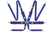 806 HANS: 6 point harness | 2''/3'' shoulder straps/Blue