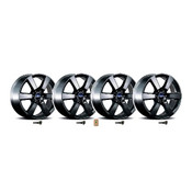 "2015-2016 F-150 20"" X 8.5"" SIX SPOKE WHEEL SET WITH TPMS KIT - MATTE BLACK"