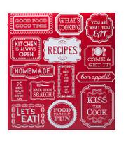Recipe Book Red & White