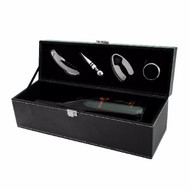 Black Wine Bottle Gift Set
