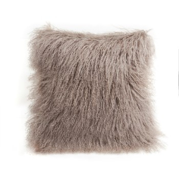 Tibetan Lamb Cushion - Velvet Birch
