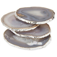 Gilded Edge Agate Coaster stacked