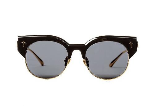 ADCC II-Gloss Black w Gold Titanium Trim/Black Lens (FLAT)
