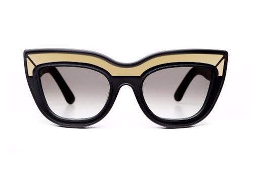 MARMONT LTD - Black w Gold Trim/Black Gradient Lens