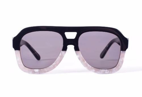 FORKS - Gloss Black to Sharp Pearl White/ Black Lens