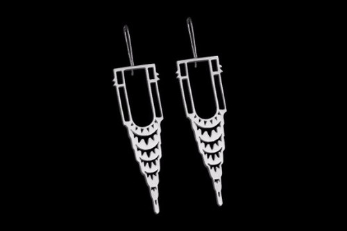 Chrysler Earring - Silver