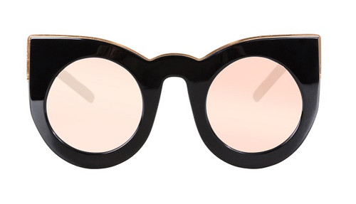 WOLVES - Gloss Black w Rose Gold Trim/ Rose Gold Mirror lens
